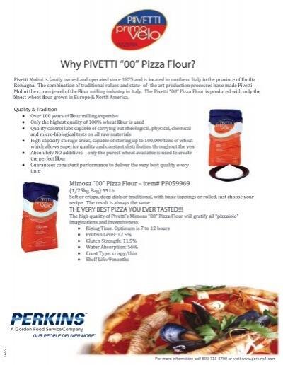 "Why PIVETTI ""00"" Pizza Flour? - Perkins"