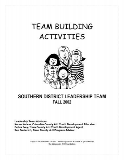 TEAM BUILDING ACTIVITIES - 4-H Youth Development