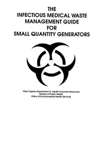Small Quantity Generators Infectious Medical Waste Guide Dhhr