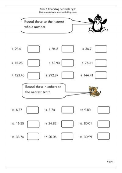 Rounding Decimals Maths Blog