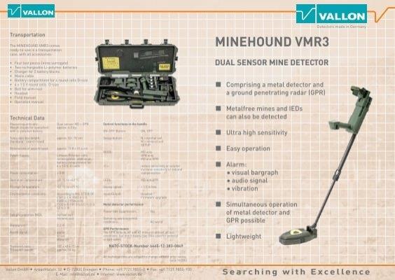 Minehound Vmr3 Dual Sensor Mine Detector Vallon