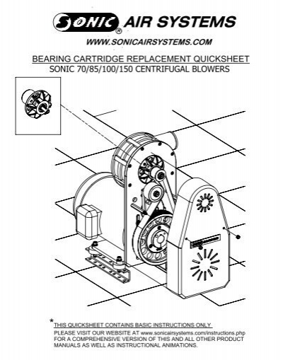 Sonic Air Systems Blower Head : Important read notes below before proceeding sonic