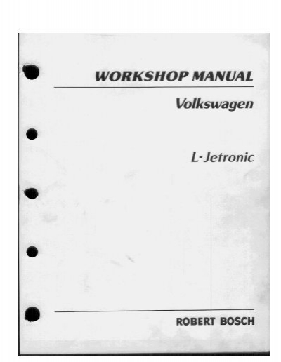 vw l jetronic fuel injection workshop manual pdf rh yumpu com L-Jetronic FIA KE-Jetronic System