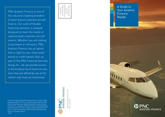 A Guide to Your Aviation Finance Needs - Aircraft Finance by PNC