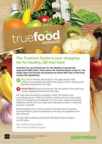The Truefood Guide Is Your Shopping List For Healthy Ge Free Food