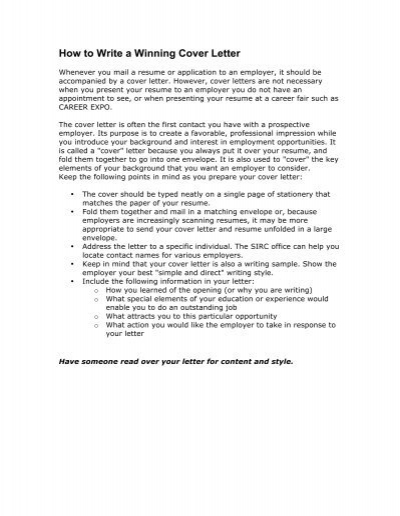 Cover Letter After Career Fair from www.yumpu.com