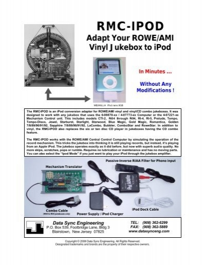 RMC-IPOD Adapt Your ROWE/AMI Vinyl Jukebox To     - CD Adapter