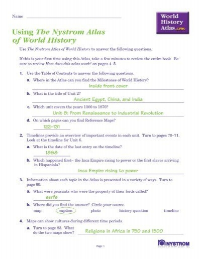 World History Atlas Test With Answers Nystrom S World History
