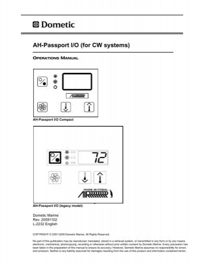 AH-Passport I/O Manual - Dometic
