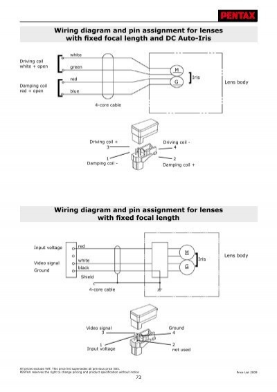 wiring diagram and pin assignment for lenses with fixed pentax Fuse Box Wiring Diagram  Wiring Diagram Symbols Friendship Bracelet Diagrams Grado Wiring Diagram
