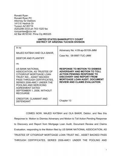 Bakir response to motion to dismiss brunettelaw platinumwayz