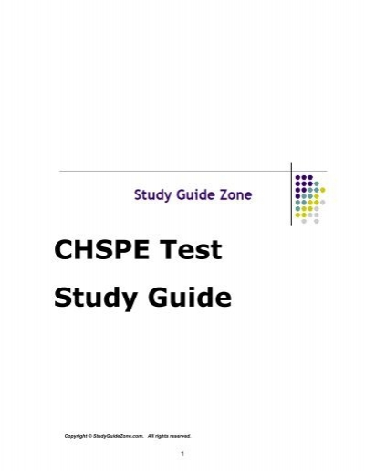 studyguidezone Free CHSPE Study Guide - Study Guide Zone