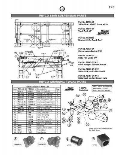 240reyco Suspension Parts