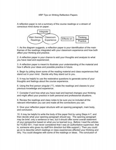 Reflective account essay