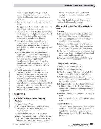 chemistry matter and change ch 1 4 resources austin high