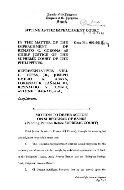 Motion to Withdraw Request for Subpoenae (Bank)