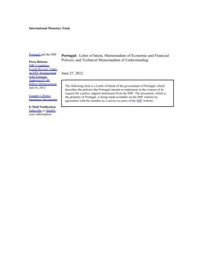Portugal letter of intent memorandum of economic and imf spiritdancerdesigns Image collections
