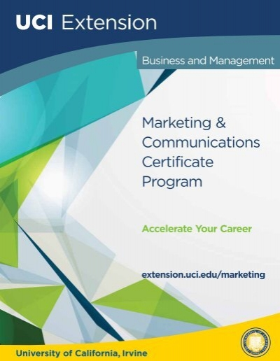 Marketing Certificate Program - UC Irvine Extension - University of ...