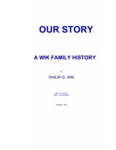 Our Story u00e2 A Wik Family History My Mall News