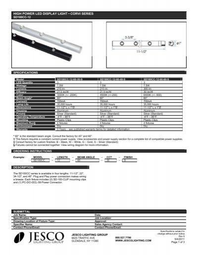 high power led display light • corvi series jesco lighting