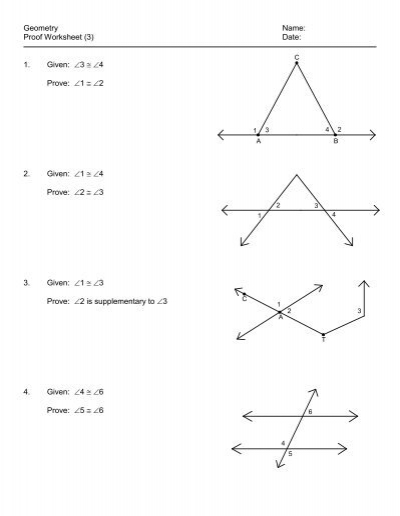 Printables Geometry Proofs Worksheets geometry proof worksheet 3 answers intrepidpath 5 given