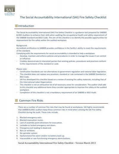 fire safety audit template fire safety specialist sample