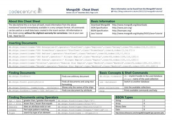 MongoDB-CheatSheet-v1_0