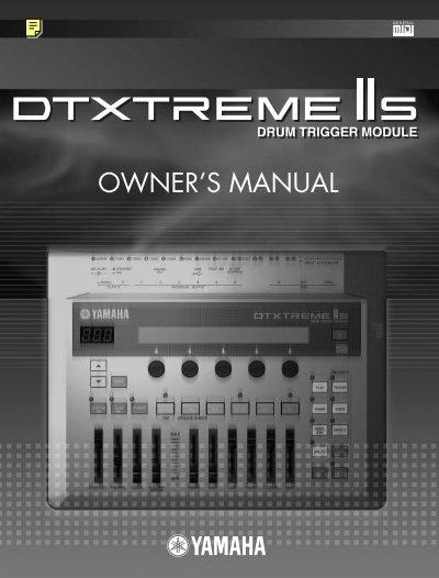 Dtxtreme iis owner 39 s manual yamaha for Yamaha rx v377 manual