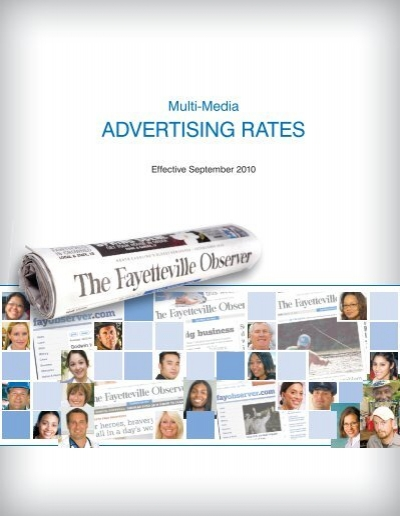 ADVERTISING RATES - Classifieds - Fayetteville Observer