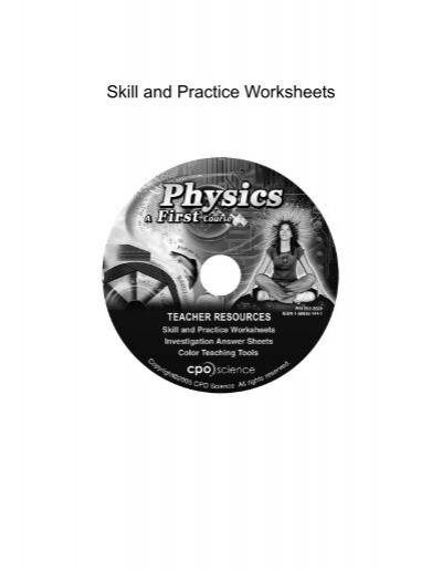 Worksheet Cpo Science Worksheets skill and practice worksheets cpo science