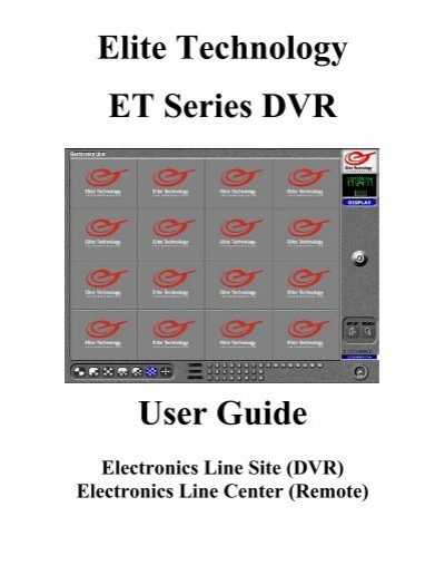 elite technology et series dvr user guide dvr video technology rh yumpu com comcast x1 dvr user manual Verizon FiOS DVR