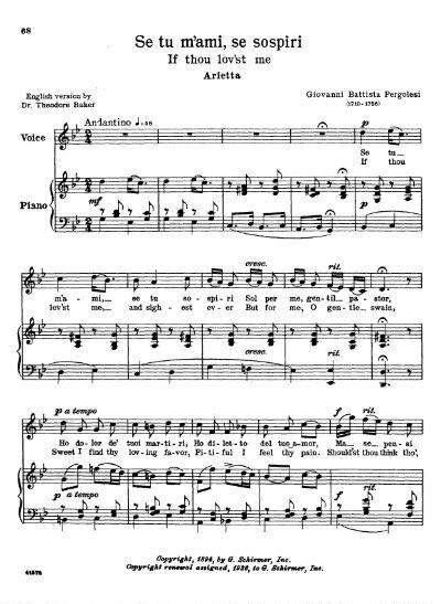 se tu m ami sheet music