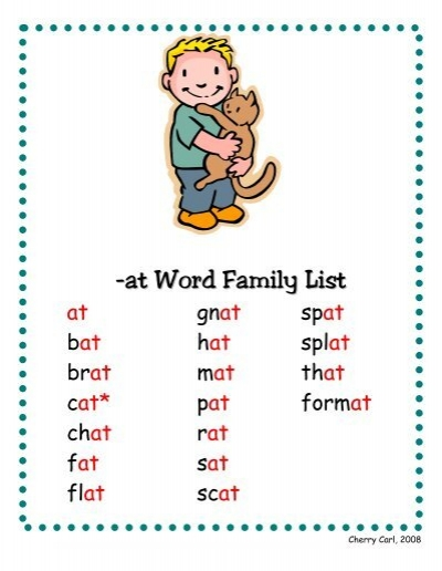 ap word family list  little book lane &