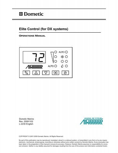 Elite Control (for DX systems) - Dometic