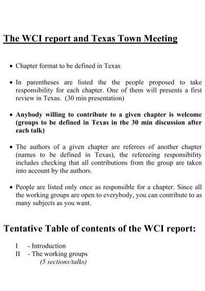 tentative outline for book, Presentation templates