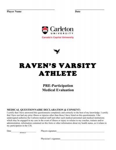 Pre-participation Physical form - carleton university sports ...