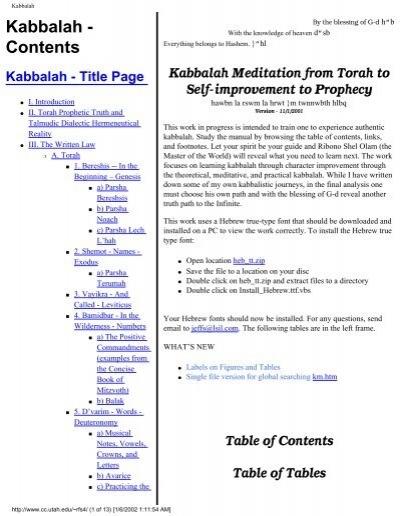 Kabbalah Meditation from Torah to self-improvement