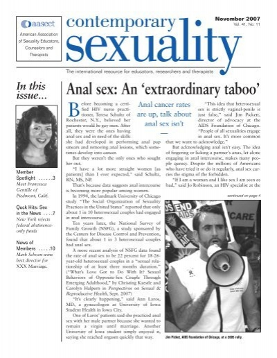 Anal sex and cancer