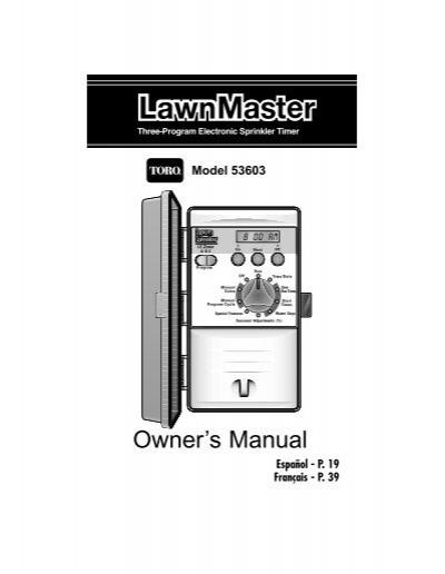 toro lawn master 11 manual
