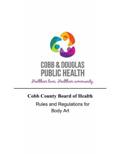 Cobb County Rules And Regulations For Body Art Cobb Douglas