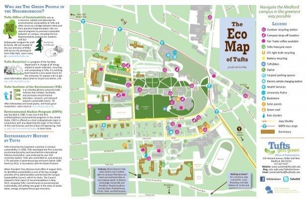 Eco Map Tufts Office Of Sustainability Tufts University