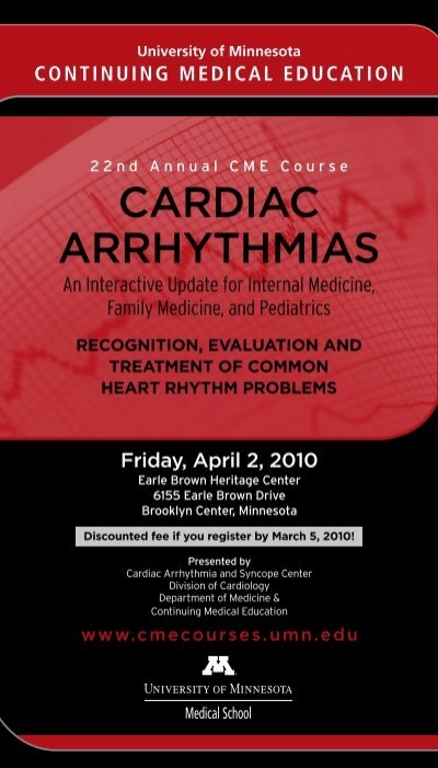 cardiac arrhythmias - University of Minnesota Continuing