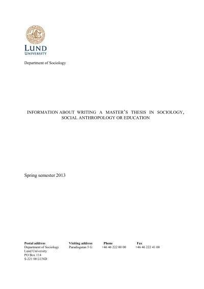 lund university thesis