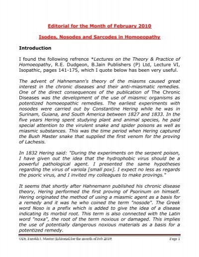 isodes nosodes and sarcodes in homoeopathy dr farokh master