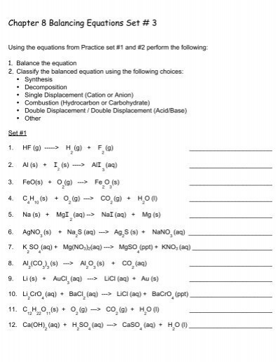 balancing chemical equations worksheet answers chapter 9 worksheet 7 balancing chemical. Black Bedroom Furniture Sets. Home Design Ideas