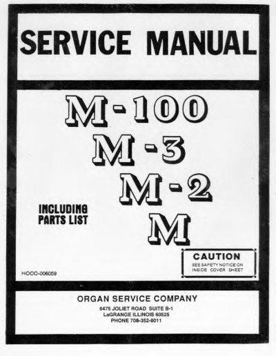 Hammond Organ Service Manual - Models M M2 M3 ... - Audiofanzine on
