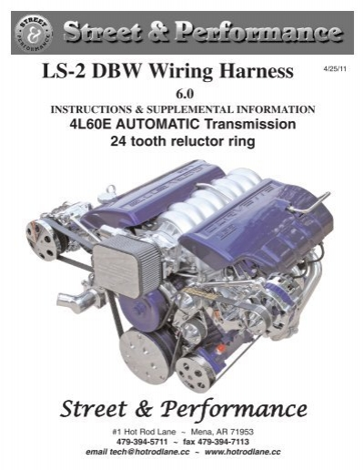 LS 2 DBW Wiring Harness 24 tooth reluctor ring Street