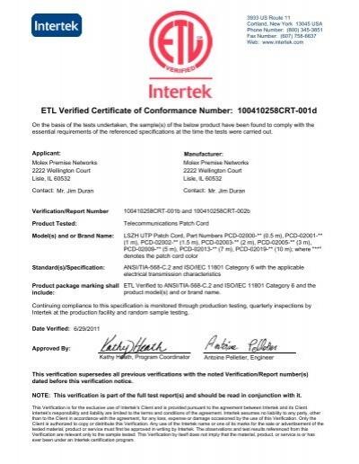 certificate of conformance templates