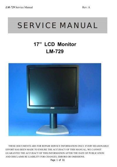 aoc lm729 service manual pdf rh yumpu com Clip Art User Guide Clip Art User Guide