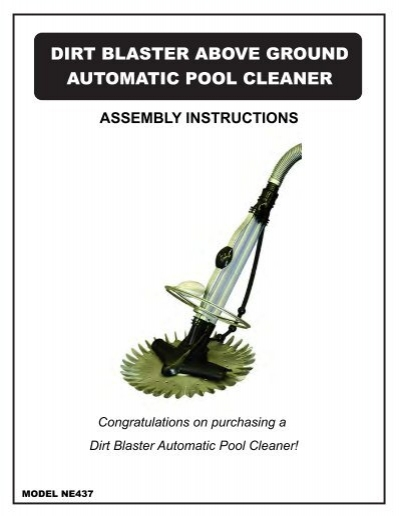Dirt Blaster Above Ground Automatic Pool Cleaner Inyopools